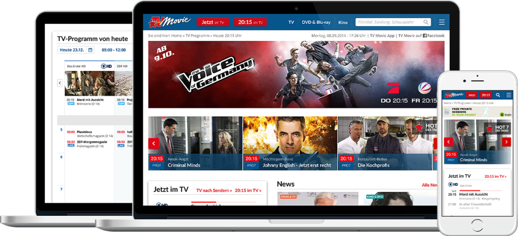 tvmovie.de Responsive Website