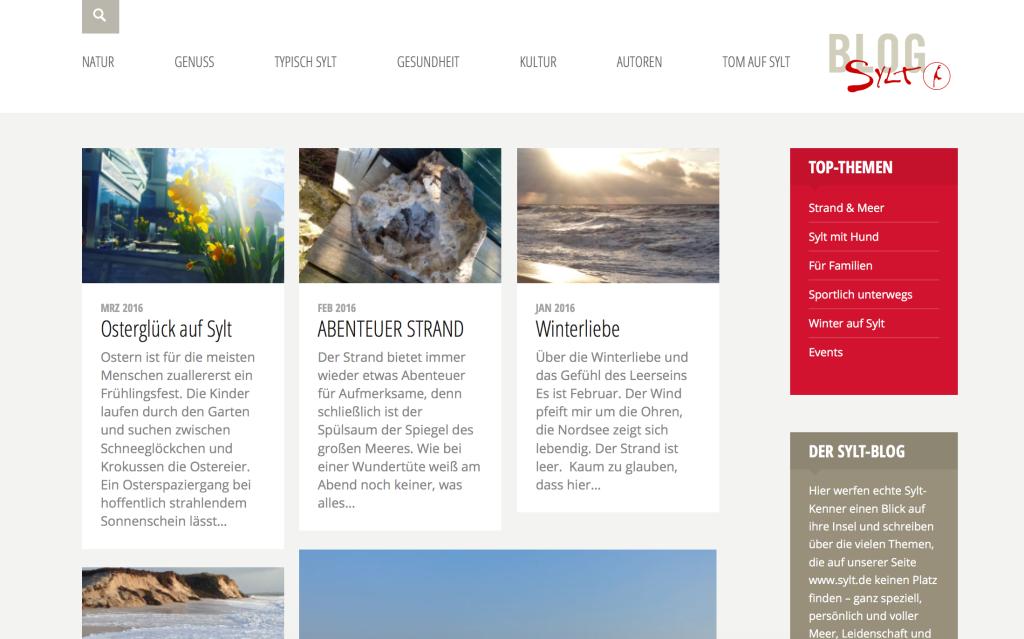 Screenshot von blog.sylt.de