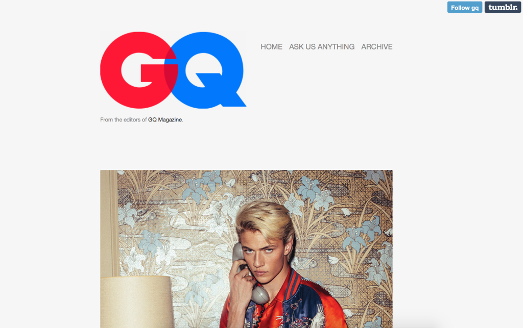 Screenshot von GQ-Website