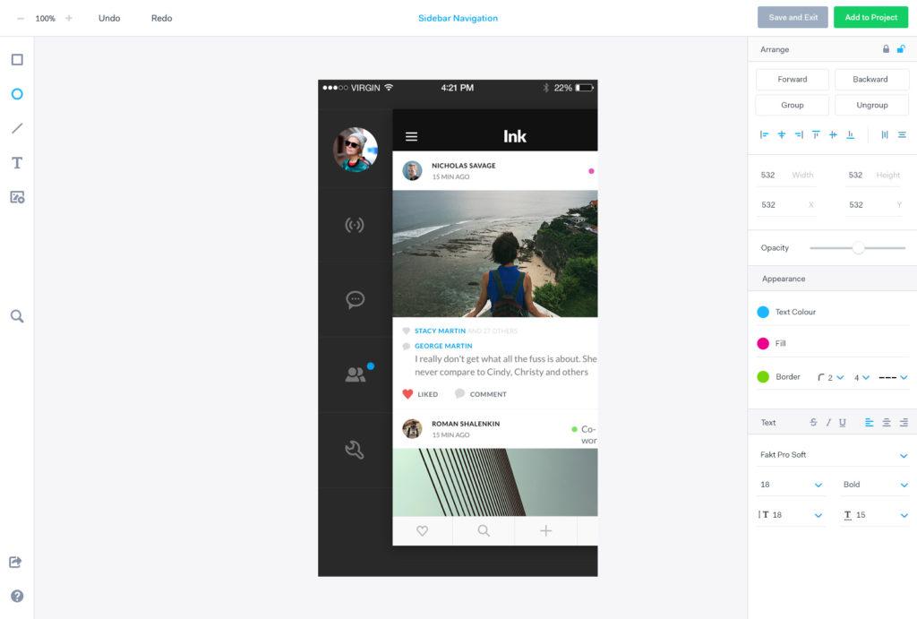 Marvel App als Prototyping Tool