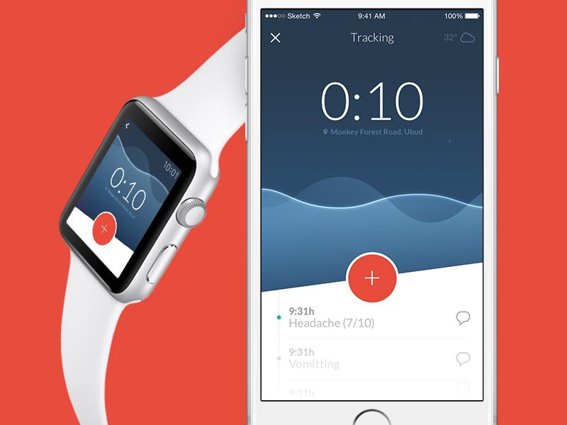 Migräne App - Gutes UX Design Apple Watch