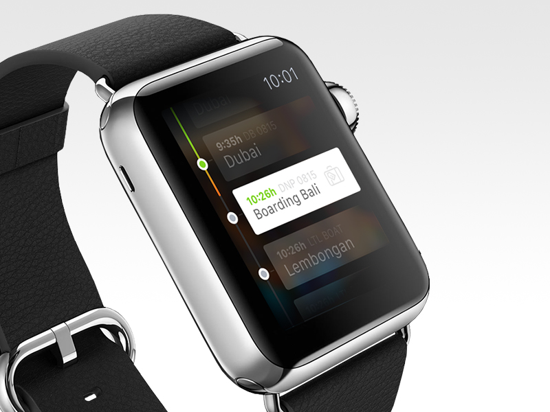 Apple Watch Reise App - Gute Apple Watch Apps - Apple Watch App Design